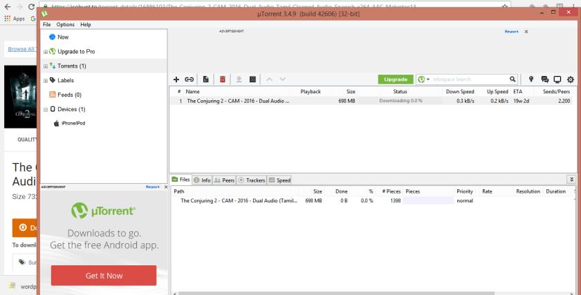 conjuring 2 torrent download dual audio